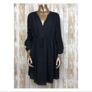 H&M Mama Maternity Black Dress Tie Sz Large